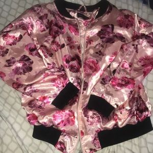 Flower varsity jacket